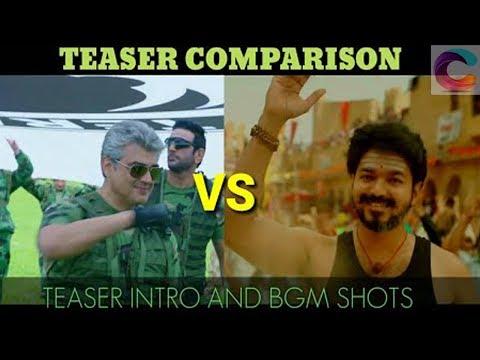 Video Trending! Mersal Vs Vivegam Teaser Comparison! Both Marana Mass! Vijay | Mersal | Thala | Ajith download in MP3, 3GP, MP4, WEBM, AVI, FLV January 2017