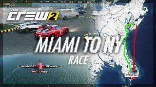 The Crew 2 - Miami to NY Race! (Plane vs Car)