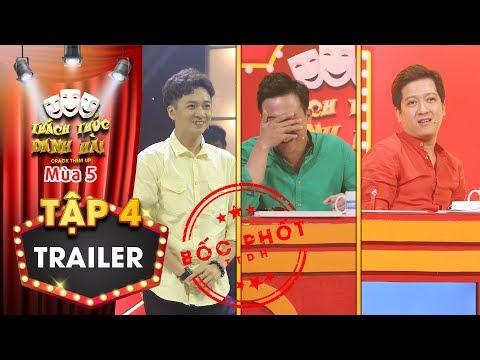 Thách thức danh hài 5| Trailer tập 4: Trấn Thành Trường Giang đóng băng vì bị loạt thí sinh bóc phốt - Thời lượng: 99 giây.