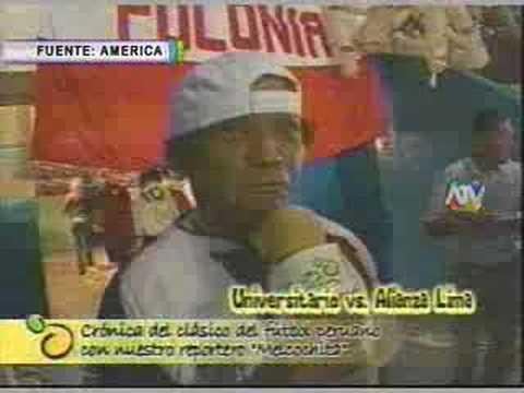 Melcochita Reportero en el Clasico U - Alianza