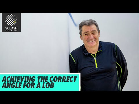 Squash Tips: Achieving The Correct Angle For A Lob with David Pearson