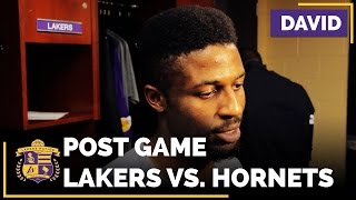 David Nwaba After His First Game As A Los Angeles Laker