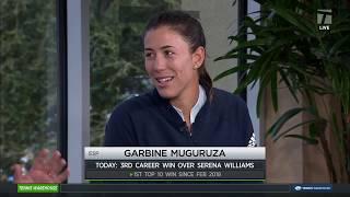 Garbine Muguruza - 2019 Indian Wells Third Round Tennis Channel Desk Interview
