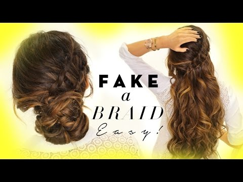 ★ 3-Minute EASY HAIRSTYLES | Fake Ladder-Braid for Long Medium Hair