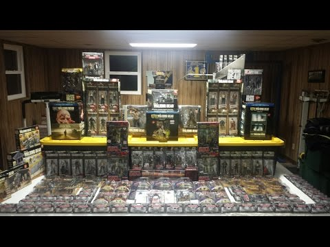The walking dead complete action figure collection 2011-2014 pt 1(HD)