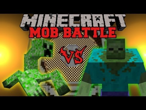 Mutant Zombie Vs. Mutant Creeper - Minecraft Mob Battles - Mutant Creatures Mod