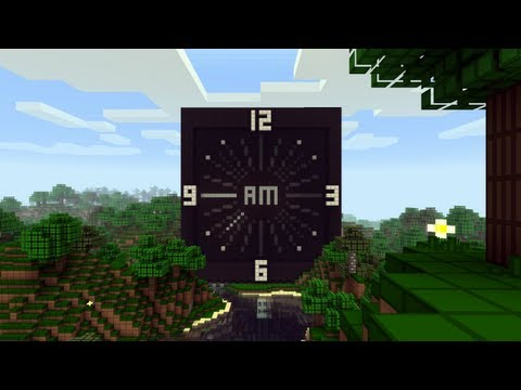 Minecraft Piston Analog Clock