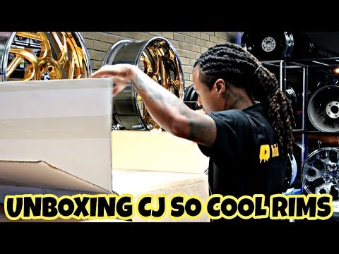 EXCLUSIVE (FIRST LOOK) UNBOXING CJ SO COOL JEEP RIMS (32s)