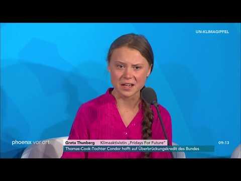 Rede von Greta Thunberg auf dem UN-Klimagipfel am 23. ...