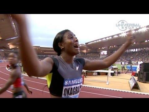 Blessing Okagbare wins 100m in Monaco - Universal Sports