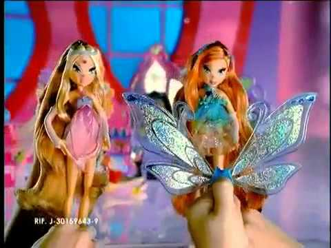 2007 Winx Club Glam Magic Dolls CommercialSPANISH)