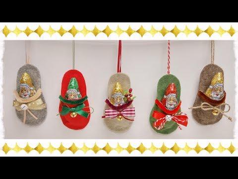 feltro - mini ciabattina porta dolcetti