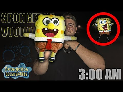 DO NOT USE A SPONGEBOB VOODOO DOLL AT 3 AM *THIS IS WHY* 3 AM SPONGEBOB VOODOO DOLL CHALLENGE!!