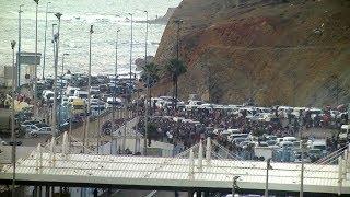 احتجاجات عارمة على إغلاق معبر سبتة