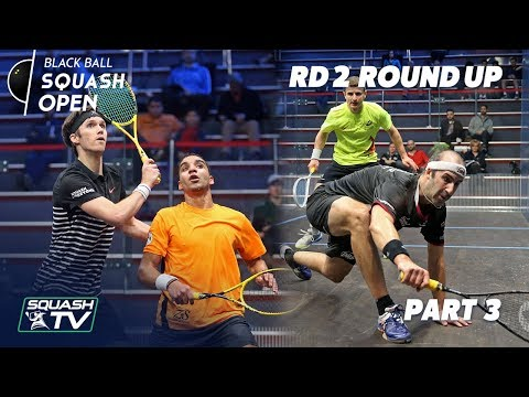 Squash: CIB Black Ball Squash Open 2018 - Rd 2 Roundup P3