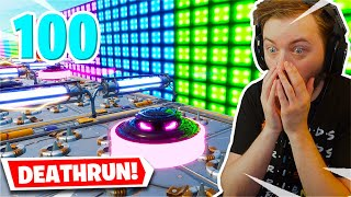 I played a 100 LEVEL Deathrun with my girlfriend... (Fortnite Creative)
