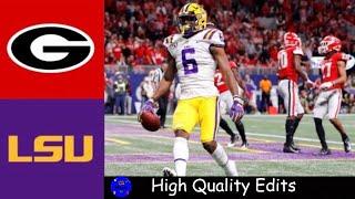 #4 Georgia vs #2 LSU 2019 SEC Championship Highlights | College Football Highlights