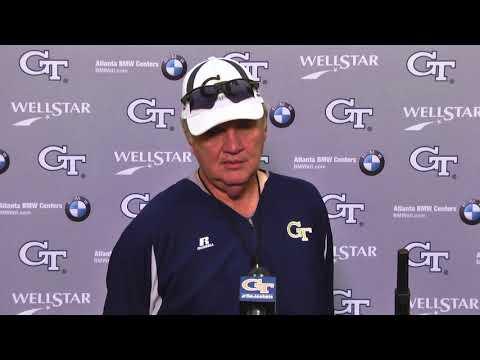 Video: #GTvsMIA: Head coach Paul Johnson post-practice (10-11-17)