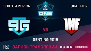 SG-eSports vs Infamous, ESL One Genting SA Qualifier, game 1 [Mortalles]