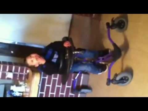 Little Disabled Boy Using Pony Walker for the First Time Ever