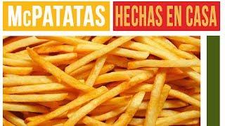 PAPAS FRITAS TIPO McDONALS - McDONALDS FRENCH FRIES [English subtitled]