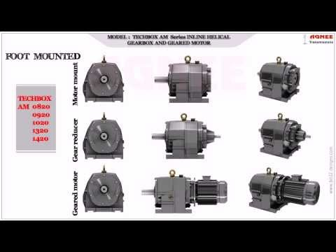AGNEE Inline Helical Gear Motors and Gear Boxes