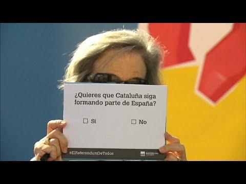 Ισπανοί ακροδεξιοί κατά Καταλανών αυτονομιστών