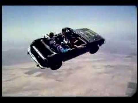 Skydiving in a car