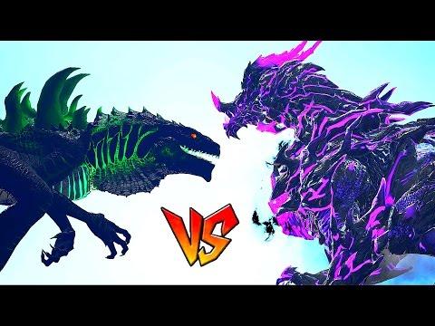 Ark Survival - GODZILLA vs DRAGON DARK GOD [Ep.27]