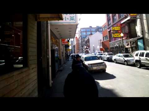 Passing Through Boston\'s Chinatown Gate with Glass