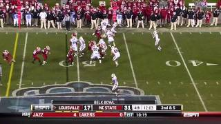 David Amerson vs Louisville (2011 Bowl)