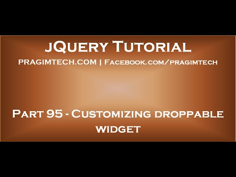 Customizing droppable widget  in jQuery