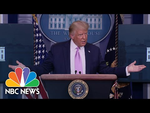 'They Like Me Very Much': Trump Discusses The QAnon Conspiracy Theory Movement | NBC News NOW