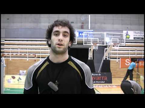 CB Estella vs Arjonilla 18/02/12 Entrevista David Ruiz de Larramendi