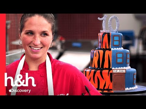 Decorados de uñas - ¡Pastel para unas gemelas!  Cake Boss  Discovery H&H
