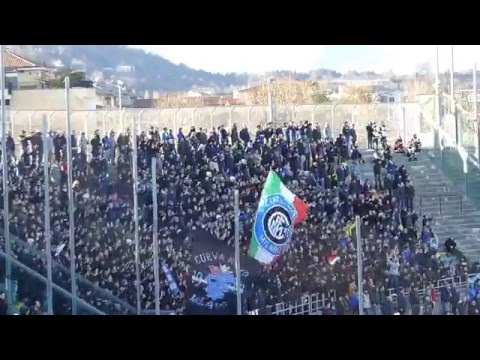 Ultras Inter in trasferta a Bergamo