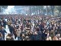 Report TV - Protesta, studentët zhvendosen nga parlamenti te kryeministria