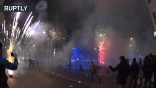 Новогодний беспредел на шведских улицах