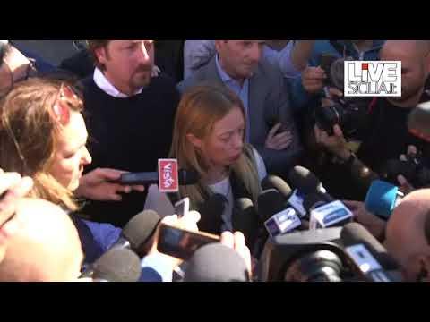 """La Meloni a Catania: """"Così abbiamo vinto"""""""