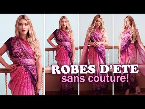 Robes d'été sans couture ★ Comment mettre un sari indien