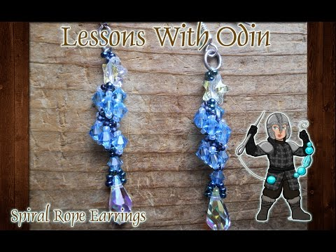 Spiral Rope Earrings Beaded Jewelry Tutorial - Lessons With Odin