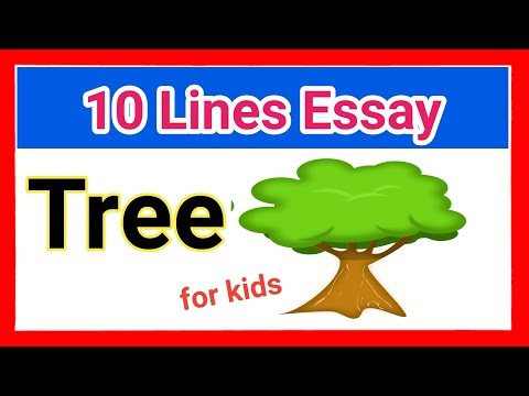 """short and smart 10 lines about """"The Tree""""/ Importance of trees essay for kids"""