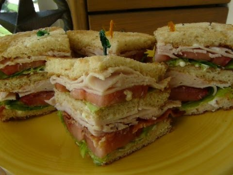 sandwich - An American favorite for decades...CLASSIC DOUBLE-DECKER CLUB SANDWICH, also know as a CLUBHOUSE SANDWICH. This popular sandwich is made with sliced turkey, ...