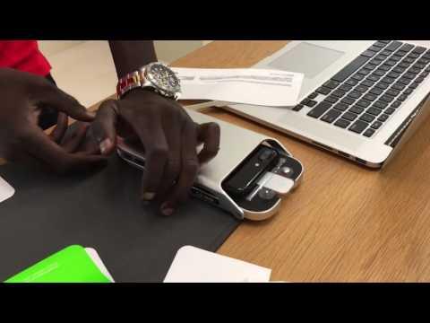 iPhone 7 plus Belkin invisiglass ultra screen protector application (machine)