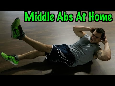 Intense Tabata At Home Middle Ab Workout (HIIT) (видео)