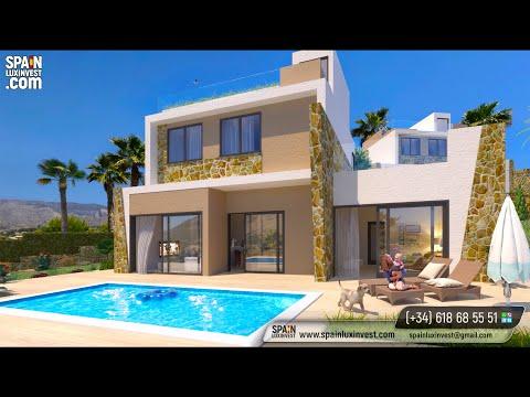 465000€/Новый дом с видом на море в Финестрате/Новые виллы в Испании/Вилла в Бенидорме/Дом в Испании