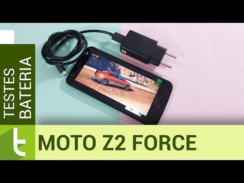 Autonomia do Moto Z2 Force  Teste oficial de bateria do TudoCelular