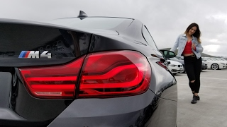 Our first 2018 BMW M4 coupe. Black Sapphire Metallic with Black extended Merino leather. Now Active Blind Spot Detection for only $500. Awesome Exhaust Sound! Thumbs Up if you like  the video, car & Trish!  BMW Review. Car Review. Follow Trish on Instagram at bmw_trisha.