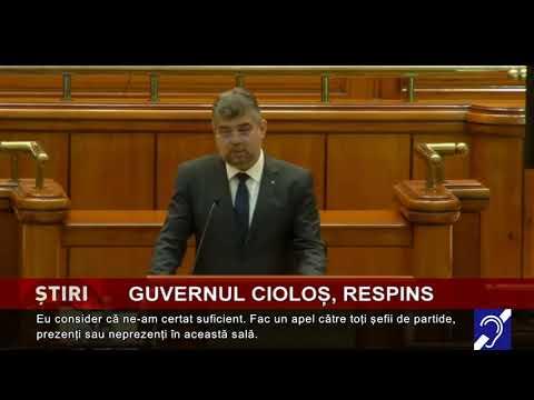 Guvernul Cioloș, respins de Parlament