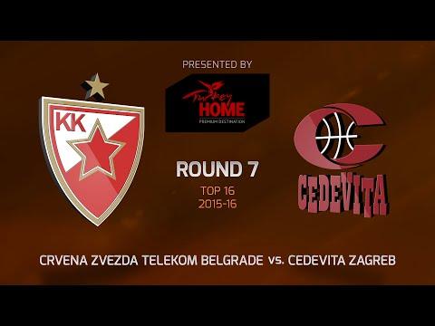 Highlights: Top 16, Round 7, Crvena Zvezda vs. Cedevita Zagreb